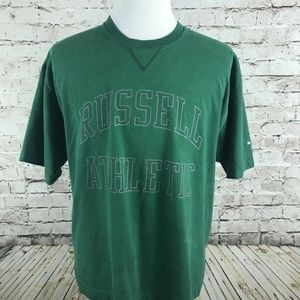 VTG Russell Athletic T-Shirt Size M Green